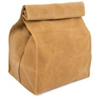 Eco Friendly 10oz 12oz 16oz Waxed Canvas Insulated Reusable Lunch Bag
