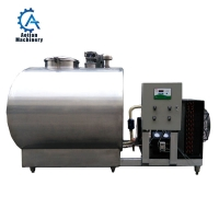 Cheap Paper Mill For Sale 1500 Liters SS304 Refrigerated Milk Cooling Storage Tank wholesale