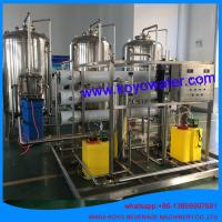 Cheap 10T/H reverse osmosis pure water complete production line water treatment equipment with RO system wholesale