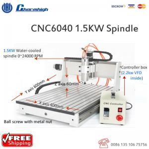 Cheap Powerful Desktop 3 Axis CNC 6040 Router , Ball Screw CNC Cutting Machine wholesale