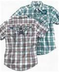 Cheap Fashion short sleeve yarn dyed fabric kids plaid  shirt manufacturers for boys of 3-7 Y wholesale