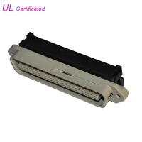 Cheap Easy and Soft 50 Pin Centronic Solder Male Connector With Cable Clip Certificated UL wholesale