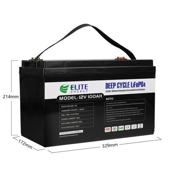 Quality Lifepo4 12v 100ah Battery for sale