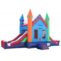 Cheap Attractive Inflatable Party City Bounce House , Double Slide Inflatable Moon Bounce wholesale