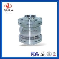 Cheap Three Pieces Sanitary Stainless Steel Valves DN25-DN150 Flange Check Valve wholesale