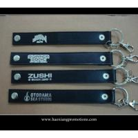 Cheap High quality custom genuine leather keychain car leather key chain with gift wholesale