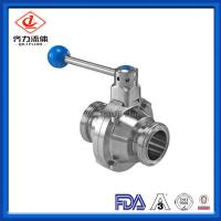 Cheap Threaded Connecting Sanitary Stainless Steel Butterfly type  Ball Valve wholesale