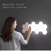 Cheap Touch Sensitive LED Quantum Wall Lamp Plastic Hexagonal For Gift DIY Lovers wholesale