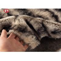 Cheap Gray Two Tone Faux Fur Fabric Sewing Costume Shag Fluffy Fur Imitation 900gsm wholesale