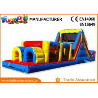 Cheap Sports Challenge Outdoor Inflatable Obstacle Course For Adults CE UL SGS wholesale