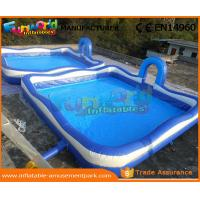 Cheap Blue Color Giant Inflatable Water Pools With 680W Air Pump 3 Years Warranty wholesale