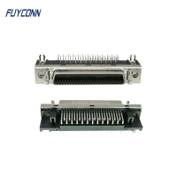 Cheap 1.27mm Right Angle PCB SCSI Connector, 50Pin Female Servo Connector wholesale