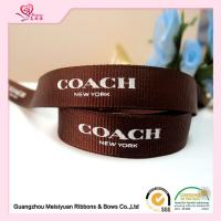 "Cheap Polyester Custom Printed Grosgrain Ribbon With Brand Name Printed 3 / 8"" for sale"
