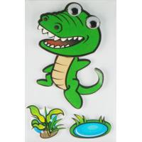 Cheap Personalised Crocodile 3D Cartoon Stickers Paper Layered For Bedroom Wall Decorative wholesale