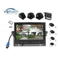 Cheap New Arrival 4 Channels HD car Monitor 7 Inch Reversing System with 4 cameras inputs wholesale