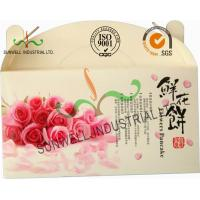Cheap Flower Cookies Cardboard Food Packaging Boxes , Disposable Cardboard Food Containers wholesale
