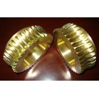 Cheap Durable Gold Brass Worm wheel / gear hobbing services and CNC Turning wholesale