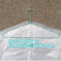 Cheap commercial clear pe ldpe poly hotel laundry roll up suit garment packaging dry cleaning cover plastic polythene bag for wholesale