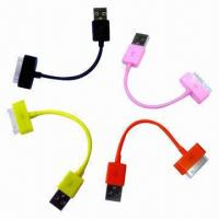 Cheap USB Cable, Used for iPod, iPhone and iPad, Available in Various Colors wholesale