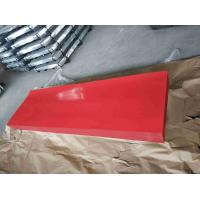 Buy cheap Red Corrugated Sheet Metal / High Hardness Corrugated Metal Roofing Sheets from wholesalers