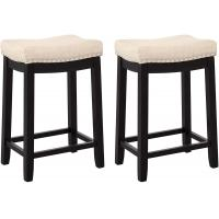 Cheap Nailhead Studs Padded Counter Stools For Kitchen Dining Room Coffee Bar Pub wholesale