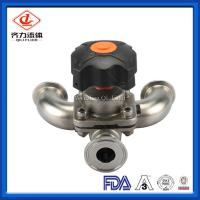 Cheap U Type Tee Hygienic Diaphragm Valve Chemical Industry Use Flow Control wholesale