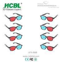 Cheap Plastic Red Cyan Blue 3D Glasses Anaglyph For Passive 3 D Films wholesale