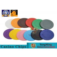 Cheap Lightweight ABS Hotstamping Logo Dice Poker Chip / Colorful Roulette Poker Chips wholesale