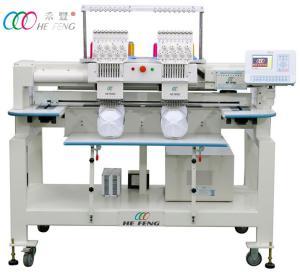 Cheap 2 Heads 9 Needles Compact Tubular Embroidery Machine , 110V / 220V Servo Motor wholesale