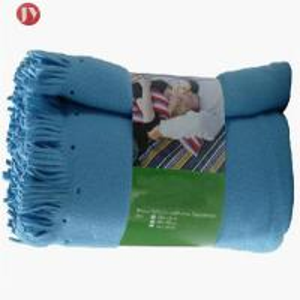 Cheap Polyester Airplane Soft Travel Blanket Polar Fleece Blanket With Handle Blanket wholesale