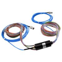 Cheap 24 Circuits Hybrid Slip Ring RF Rotary Joint with Low Electrical Noise and Low Insertion Loss wholesale
