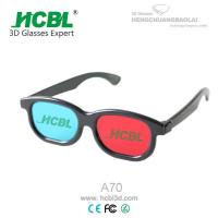 Black ABS frame Anaglyph 3D Glasses Red Blue For TV  / Cyan 3D Glasses
