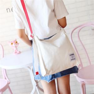 Cheap New canvas small ring shoulder Messenger bag simple portable leisure Joker bag women wholesale