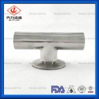 Cheap Stainless Steel Sanitary Weld Fittings Customized Size Clamp  Weld Tee wholesale
