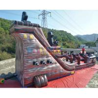 Quality 18m Inflatable Commercial Pirate Ship Slide / Blow Up Water Slide for sale