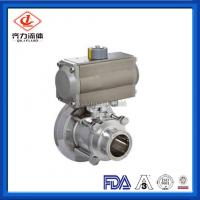 Cheap Hygienic Thread Tank Bottom Ball Valve With Aluminum Pneumatic Actuator wholesale