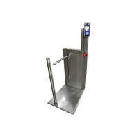 Cheap SS304 Face Recognition 450mm Arm Turnstile Barrier Gate wholesale