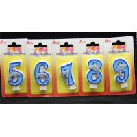 Cheap Handmade Number Candle with Blue Edge and Blue Painted with little blue Dolphin wholesale
