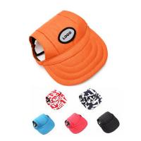 Cheap Pet Dog sports baseball cap with ear holes for small dogs TOM104669 wholesale