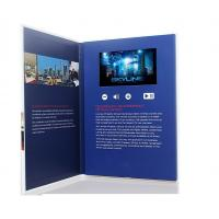 Cheap 7 inch screen Video Postcard with swich buttons , video business cards with Sound speakers wholesale
