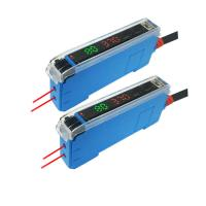 Cheap 12V-24VDC Red Light NPN Or PNP Digital Display Fiber Optic Amplifier wholesale