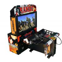 Cheap Rambo Electronic Coin Operated Indoor Arcade Video Simulator Gun Shoot Game Machine with 2 players wholesale
