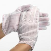 Cheap 100% polyester fabric ESD Stripped Glove wholesale