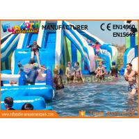 Cheap Funworld Large Inflatable Water Slide With Swimming Pool Pvc Tarpaulin wholesale