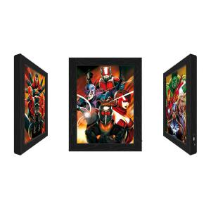 Cheap Outdoor LED 3D Lenticular Pictures With Marvel Movie Character wholesale