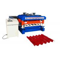 Cheap Material Width 1220 mm Rib 40 MM  Glazed Tile Roll Forming Machine Use PPGI And GI wholesale