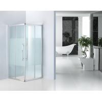Shinning Silver Bathroom Shower Enclosures 8mm Frost Glass Shower Cubicles