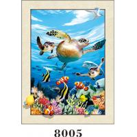 Cheap Stunning Sea World Animals Painting 5D Pictures / Lenticular Photo Printing wholesale