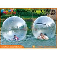 Cheap Customized Safe Kindergarten Inflatable Zorb Ball , Inflatable Water Ball Pool wholesale