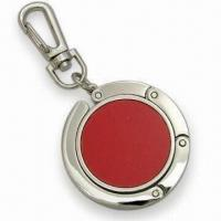 Cheap Contractible Handbag Hanger with Embedded Magnet and Keychain wholesale
